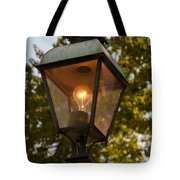 Lighted Street Lamppost Tote Bag