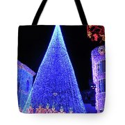 Lighted Xmas Tree Walt Disney World Tote Bag