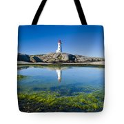 Lighthouse And Tide Pool Tote Bag