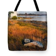Lighthouse At Dawn Tote Bag