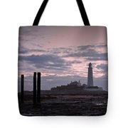 Lighthouse At Low Tide II Tote Bag