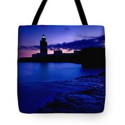 Lighthouse Beacon At Night Tote Bag