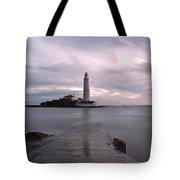 Lighthouse Before Sunrise Tote Bag