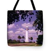 Lighthouse In Biloxi Mississippi Tote Bag