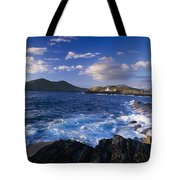 Lighthouse In The Distance, Fort Point Tote Bag
