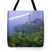 Lighthouse In The Evening Tote Bag