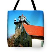 Lighthouse In The Fall Tote Bag