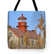 Lighthouse In Wheat Field Tote Bag