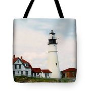 Lighthouse Maine Tote Bag
