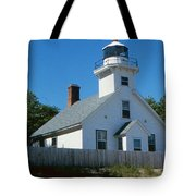 Lighthouse Near The Beach Tote Bag
