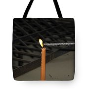 Lighting A Sparkler With An Orange Candle Tote Bag