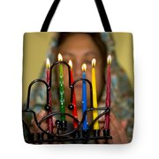 Lighting The Chanukia Tote Bag