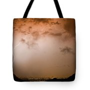 Lightning Dome Tote Bag