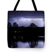 Lightning Over Coot Lake Tote Bag