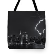 Lightning Over New York City Viii Tote Bag