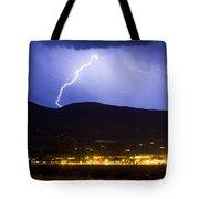 Lightning Striking Over Ibm Boulder Co 1 Tote Bag