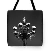 Lights In The Sky In Black And White Tote Bag