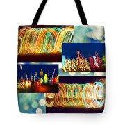 Lightshow Collage Tote Bag