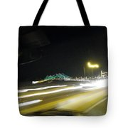 Lightwriting Tappan Zee Bridge Tote Bag