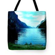 Ligth Fjord Norway Tote Bag