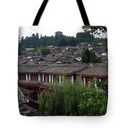 Lijiang Rooftops Tote Bag