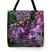 Lilac Butterfly Tote Bag