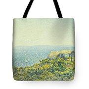 L'ile Du Levant Vu Du Cap Benat Tote Bag