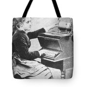 Lillian Sholes, The First Typist, 1872 Tote Bag