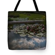 Lillies And Clouds Tote Bag