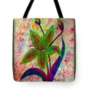Lily Abstraction Tote Bag