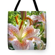 Lily Flowers Floral Prints Photography Orange Lilies Tote Bag