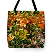 Lily Garden Bouquet  Tote Bag