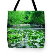 Lily Pads Along Unami Creek Tote Bag