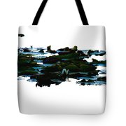 Lily Pads On White Water Tote Bag