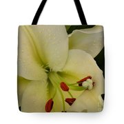 Lily White Tote Bag