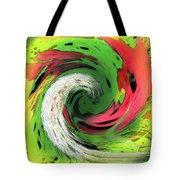 Lime And Red Tote Bag
