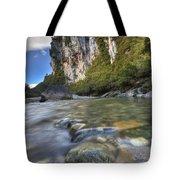 Limestone Cliffs And Fox River, Paparoa Tote Bag