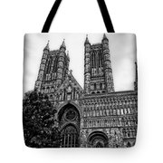 Lincoln Cathedral Facade Tote Bag