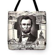 Lincoln Centennial, C1909 Tote Bag