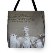Lincoln Memorial - Enshrined Forever Tote Bag