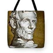Lincoln Profle 2 Tote Bag
