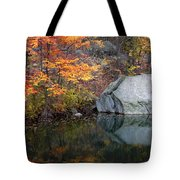 Lincoln Woods Autumn Boulders Tote Bag
