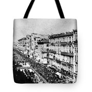 Lincolns Funeral Procession, 1865 Tote Bag by Photo Researchers