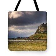 Lindisfarne Castle, Beblowe Crag Tote Bag