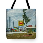 Line For The Swing Bridge Tote Bag