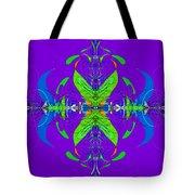 Linear Movement In Purple Tote Bag