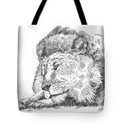 Lion-art-black-white Tote Bag