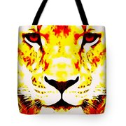 Lion In Winter Tote Bag