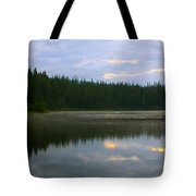 Lion Lake Montana Sunrise Tote Bag