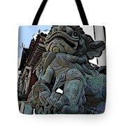Lion Of Buddha Tote Bag